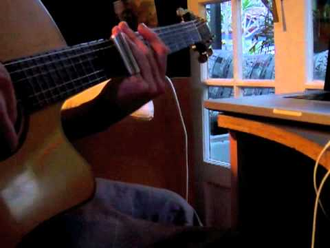 Slide Guitar my first song on YouTube 2007 - Ylia Callan