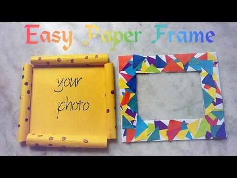 Photo frame|How to make a photo frame|how to make photoframe with paper|easy diy photo frame|||