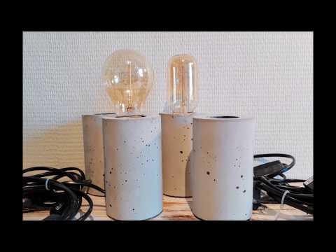 Easy DIY Concrete Lamp