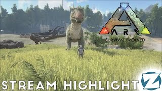 Ark: Survival Evolved Gameplay - How to Knock a Spino Out with Sl1pg8r (Streaming Highlight)