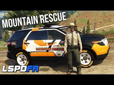 MOUNTAIN RESCUE PATROL & WILDERNESS EMERGENCIES! LSPDFR #4 (GTA V PC Mods)