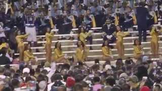 alabama st univ vs southern univ stingettes vs dancing dolls 5th q p2