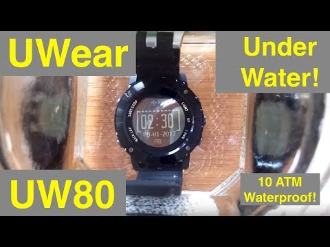 UWear UW80 Super Waterproof GPS Hiking Smartwatch: Unboxing and Review