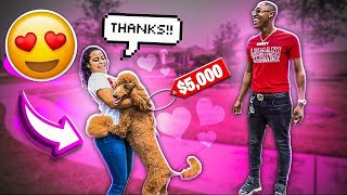 SURPRISING WIFE WITH HER DREAM DOG 😍