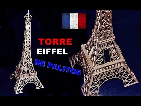 Presente Criativo Torre Eiffel De Palitos De Fosforo Como Fazer