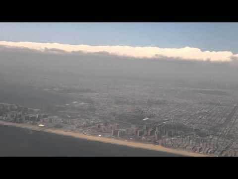 Final Approach to JFK - Flying over Staten Island and Brooklyn