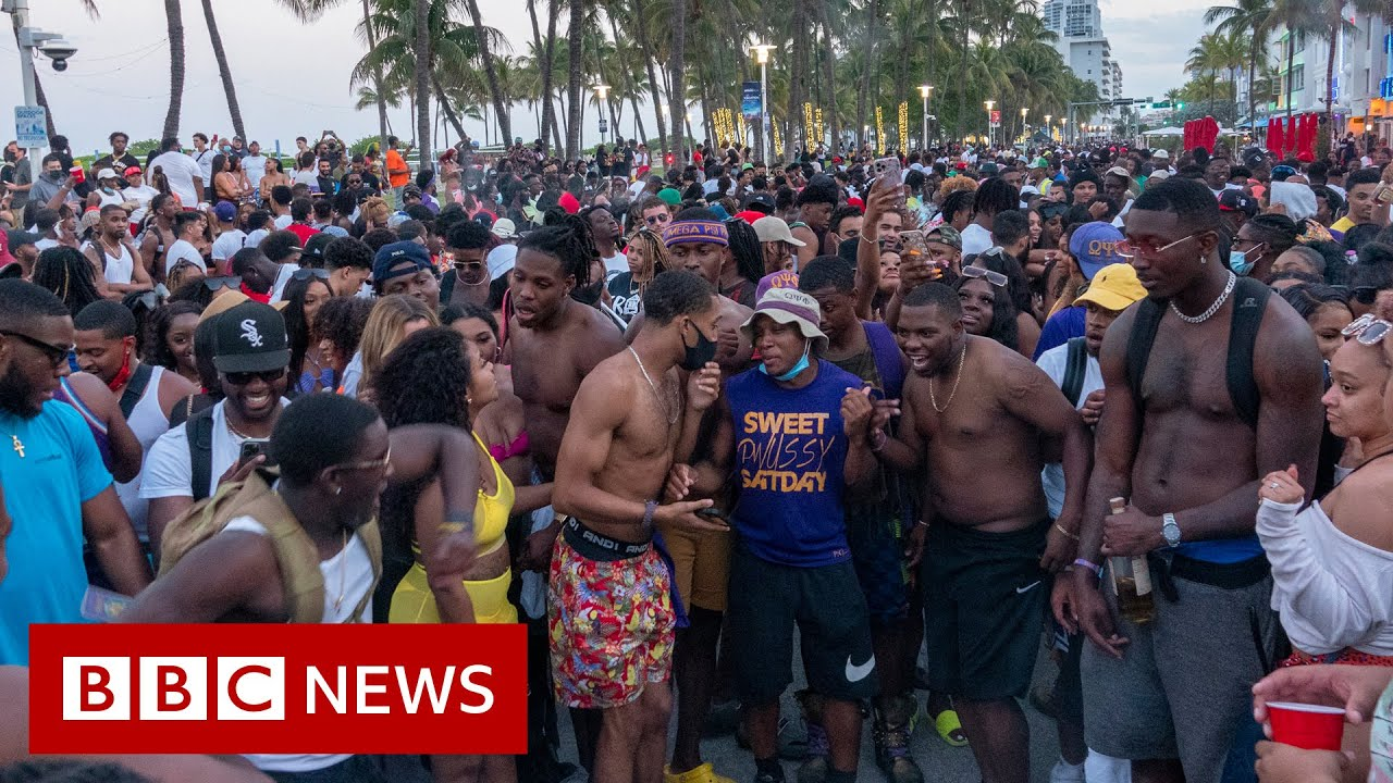 Emergency curfew in Miami Beach over spring break Covid risk - BBC News