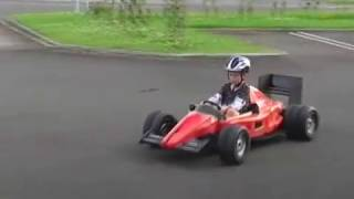 Ferrari electric ride on F1 kids car repowered 24V DC 500W go kart (PanlongIC speed controller)