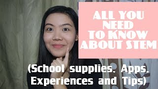 ALL YOU NEED TO KNOW ABOUT STEM (School supplies, apps, experiences and tips!) | Ella Berza