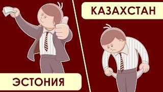 Казахстан и Эстония. Сравнение уровня жизни.