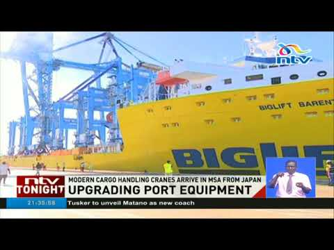 Modern cargo handling cranes arrive in Mombasa from Japan