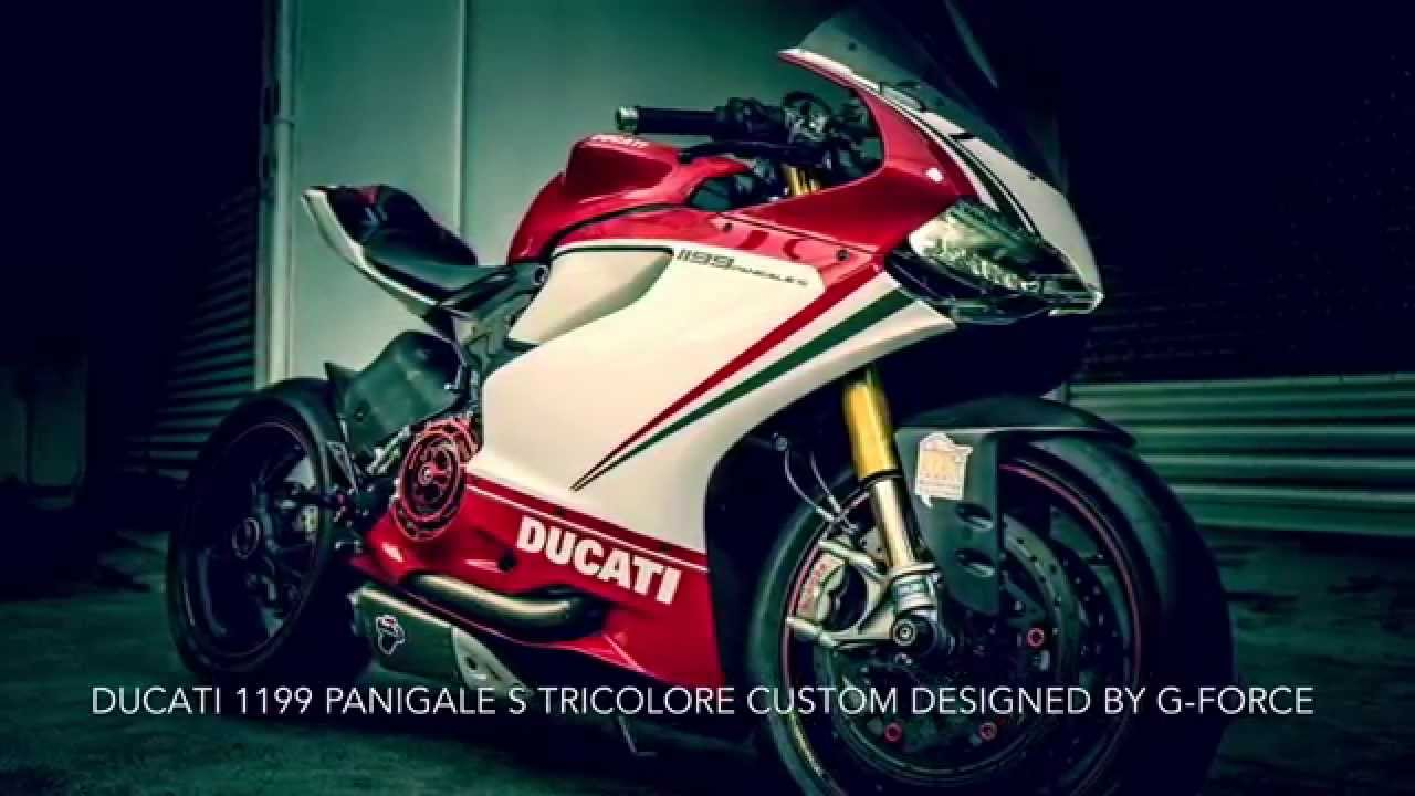 ducati 1199 panigale s tricolore custom designedg-force - youtube