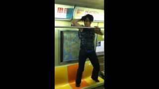 A old junkie stripper on nyc subway  trian 2013