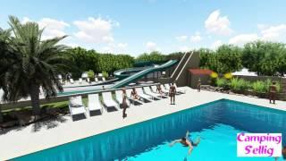 Nouvel espace aquatique au camping Sellig ****,  près de Fréjus dans le Var (83)