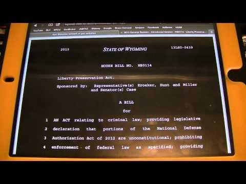 Wyoming Legislature Bills being introduced 2013