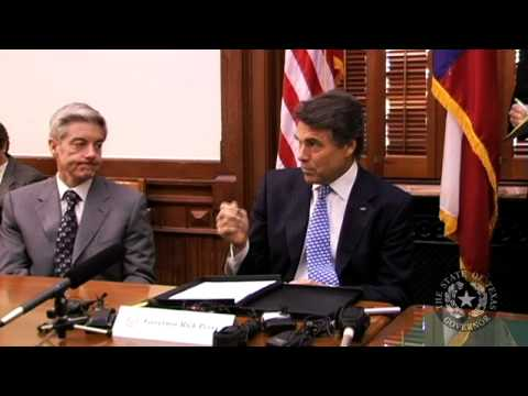 Gov. Perry Economic Roundtable with Trade Associations