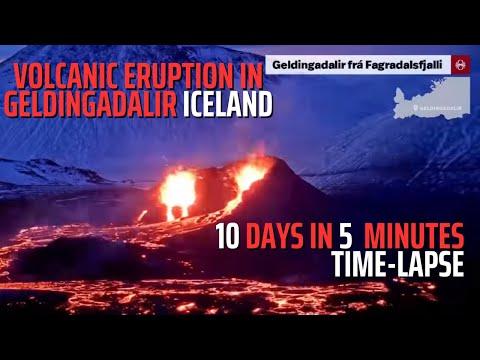 10 Days, Five Minutes - Volcanic Eruption in Geldingadalir Iceland - Time-Lapse