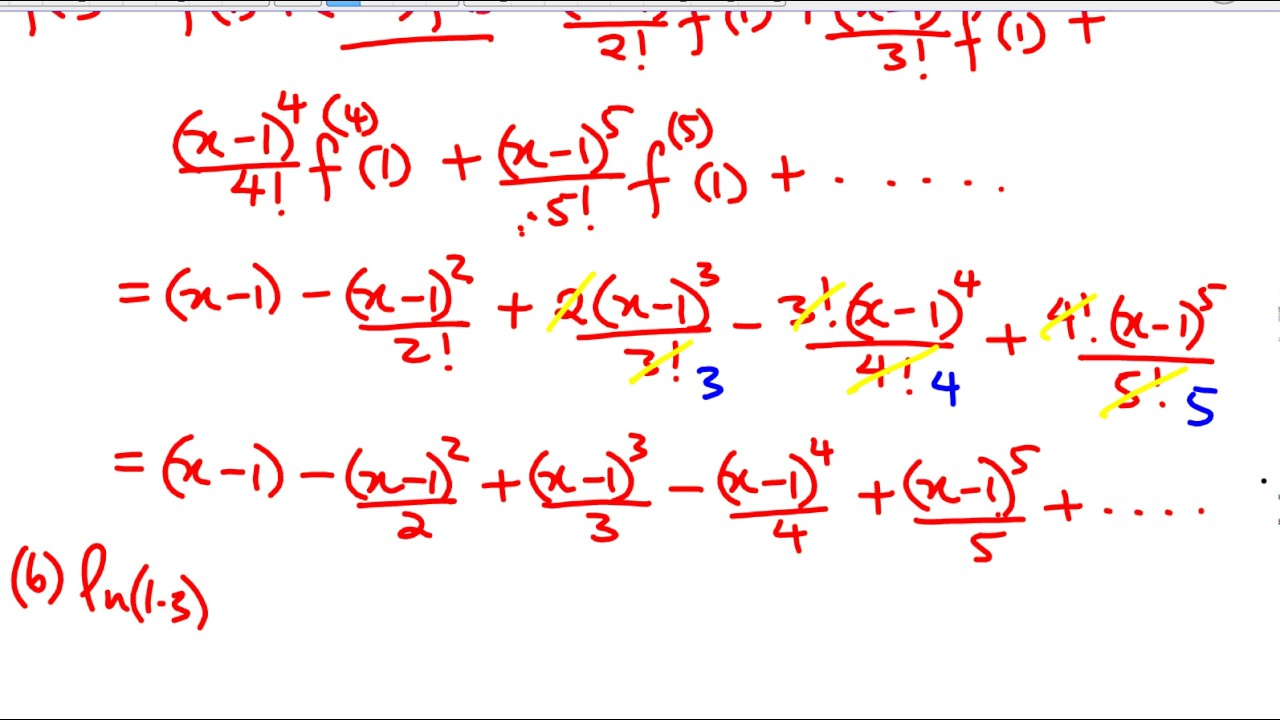 Taylor polynomials and Lagrange form of the error term (Part 2 ...