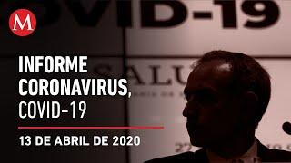 Informe diario por coronavirus en México, 13 de abril de 2020