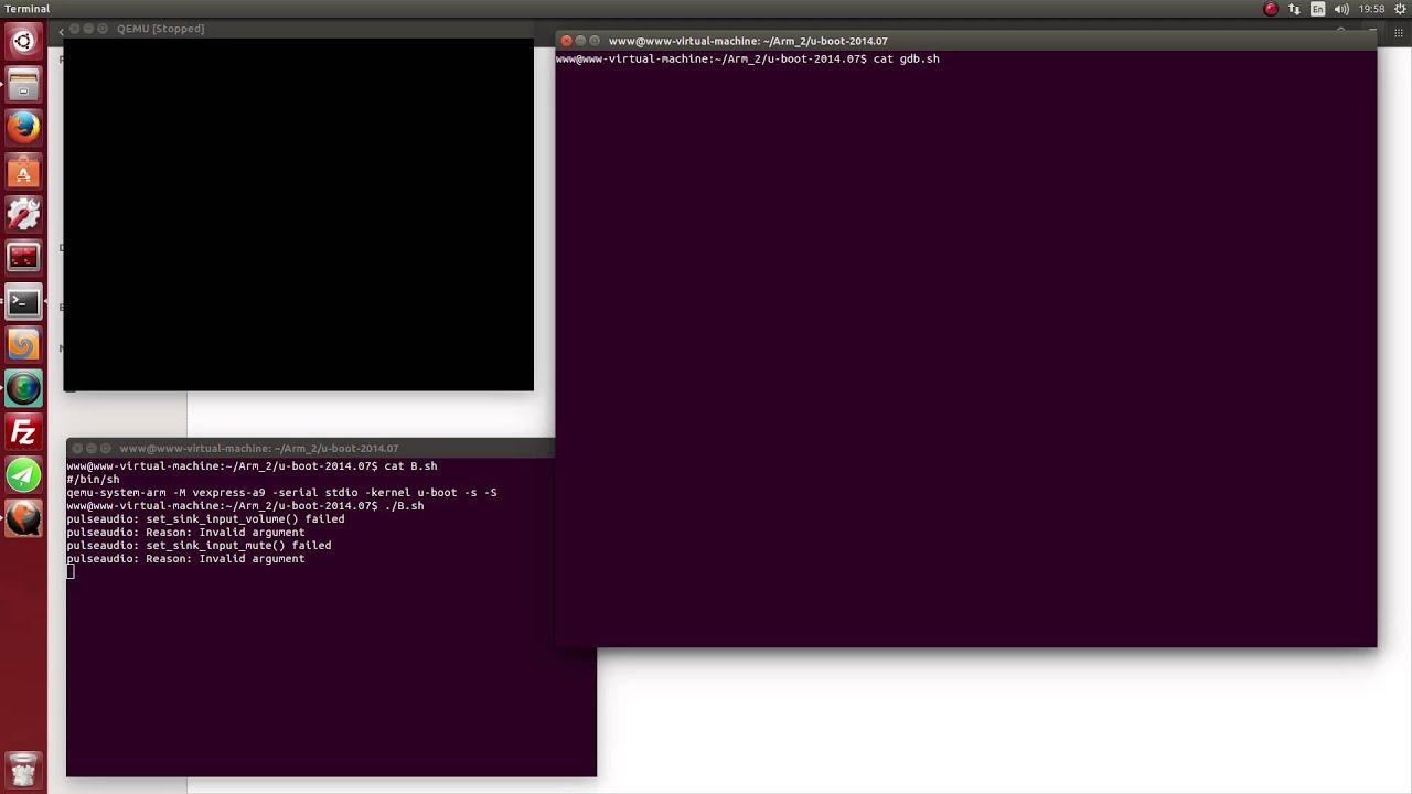 Ubuntu14 04 qemu debug uboot 2014_07