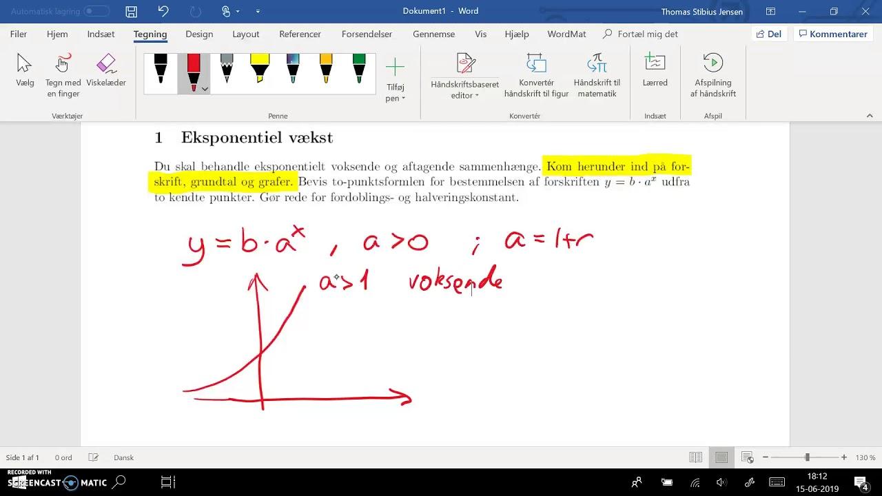 spg 1 - del 1: eksponentiel forskrift, grundtal og grafer