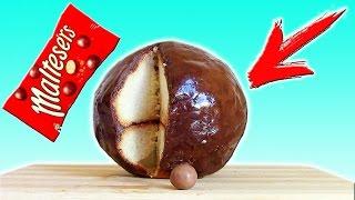 DIY   Гигантский Шоколадный Шар Мальтизерс  Как сделать его дома?