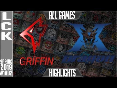 GRF Vs KZ Highlights ALL GAMES   LCK Spring 2019 Week 10 Day 2   Griffin Vs King Zone DragonX