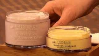 Mixology Monday - Blueberry Soy Night Recovery Cream & Naseberry Treatment - Éminence Organics Thumbnail