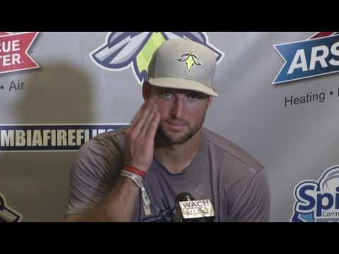Tim Tebow Takes Questions Before His Last Game As A Firefly