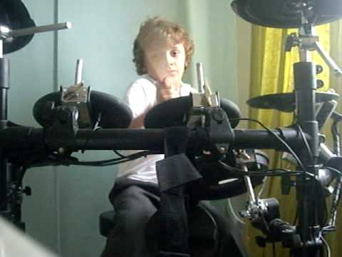 Etienne Burgess-Hunt 8 Years old drumming