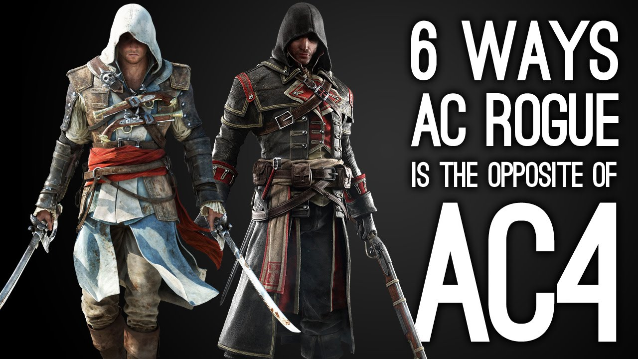 6 Ways AC Rogue is the Opposite of AC4 Black Flag - Assassin's Creed Rogue  Gameplay - YouTube