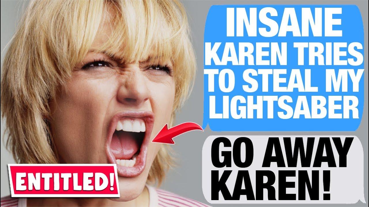 r/EntitledParents - Karen STEALS MY LIGHTSABER?!