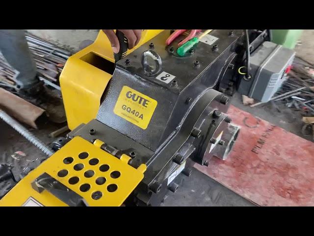 Gute SMIT GQ40 Bar Cutting machine for TMT REBAR CUTTING upto 32 mm with Hindustan Motor