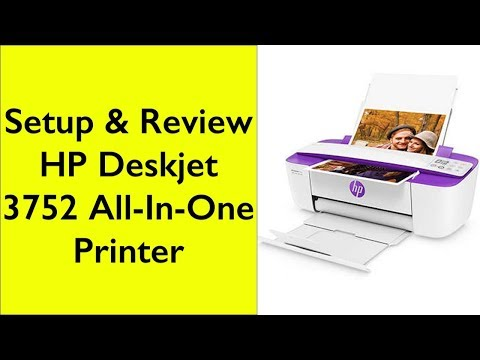 Setup of HP DeskJet 3752 Wireless All-in-One Compact Printer with Mobile Printing