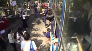 Прикол! В Тайланде появилась ведьма! Запись с камеры видеонаблюдения.