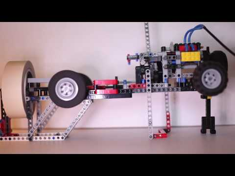 Dry Ice Powered LEGO Pneumatic Engine with 2 Speed Gearbox