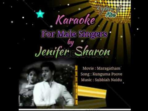 Kunguma Poove Konjum Puraave Karaoke For Male Singers By Jenifer Sharon