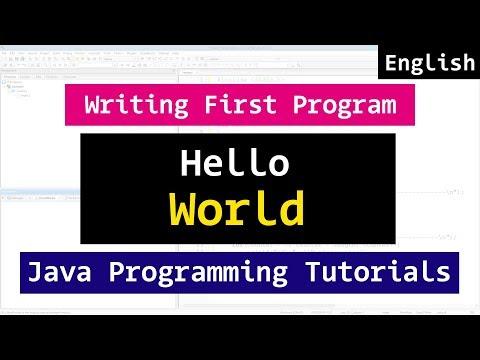 My First Java Hello World Program  | Video Tutorial