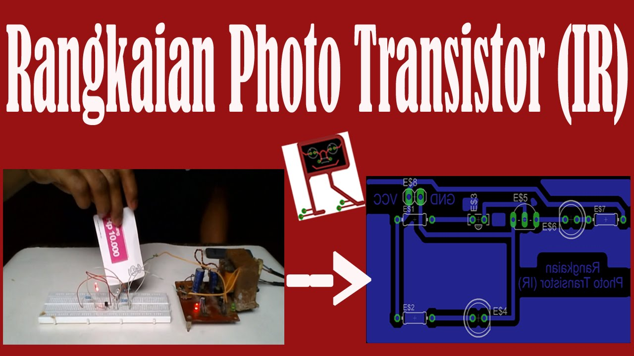 Eagle Pcb Rangkaian Photo Transistor Ir Youtube Simple Parking Sensor Using Lm324