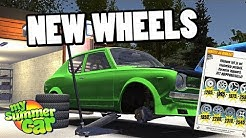 NEW RIMS AND TIRES! - MY SUMMER CAR