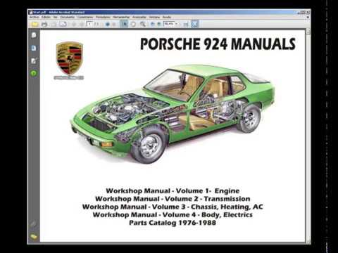 porsche 924 (1976-1988) - service manual - wiring diagram - spare parts  catalogue