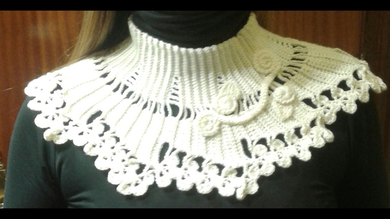 crochet tutorial cuello facil para otoño - YouTube