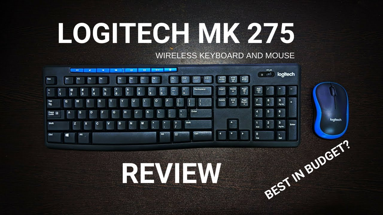 logitech mk 275 wireless keyboard and mouse review best in budget youtube. Black Bedroom Furniture Sets. Home Design Ideas