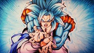 Drawing Gogeta Super Saiyan Blue 4 | KameHameHa | TolgArt