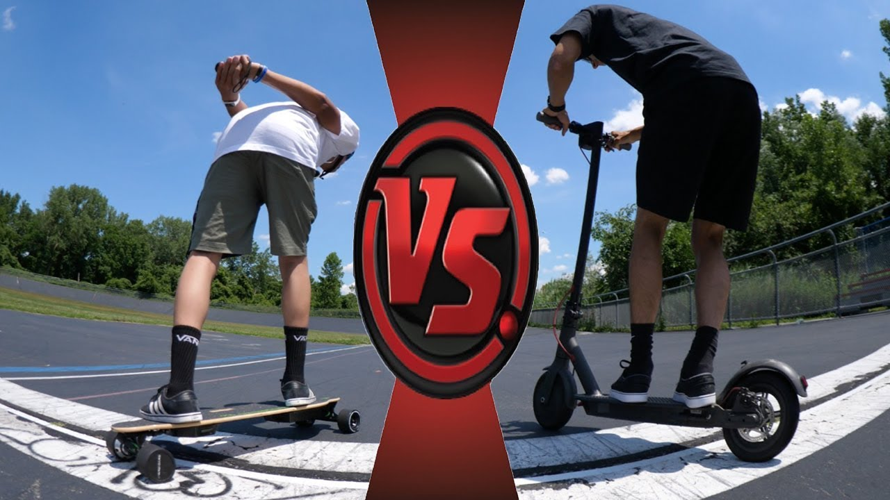 ELECTRIC SKATEBOARD vs ELECTRIC SCOOTER  YouTube