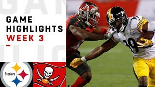steelers vs buccaneers week 3 highlights nfl 2018