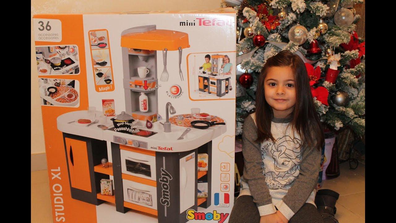 Cucina giocattolo per bambini xl tefal smoby youtube - Mini cucina per bambini ...