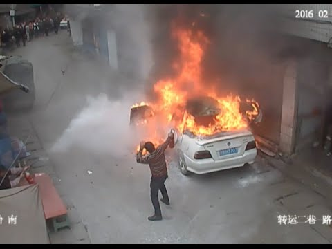Car Burnt Down by Naughty Boys with Firecrackers
