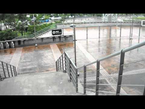 Saindo do Jeonju World Cup Stadium