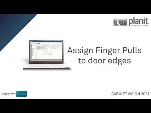 Assign Finger Pulls to Door Edges | CABINET VISION 2021